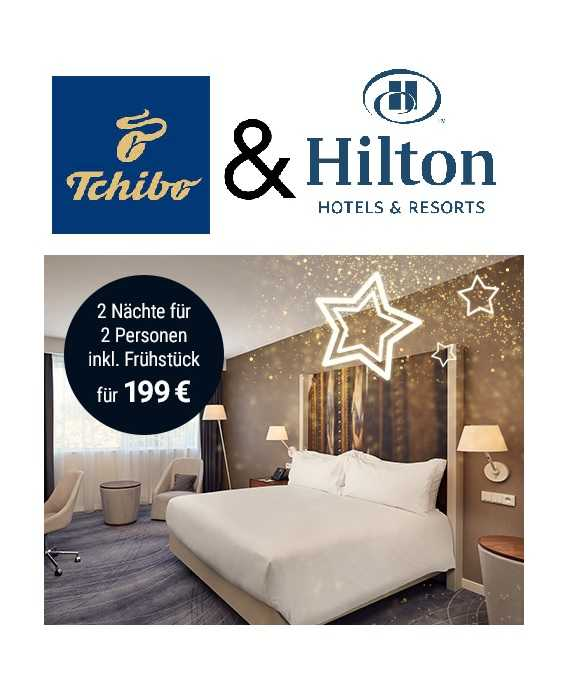 Tchibo: Gutschein für 2 Pers. + 2x Ü/F im Hilton Hotel