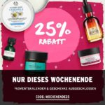 The Body Shop: 25% Rabatt im Onlineshop