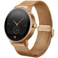 tiger paris smartwatch 122 zoll ips touchscreen bluetooth mit edelstahlarmband in rosegold fuer 99 e inkl versand statt 168e