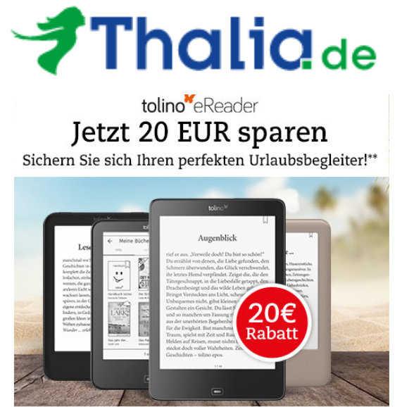 tolino ereader um 20 euro reduziert bei thalia 1