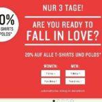 Tom Tailor: 20% Rabatt auf T-Shirts & Polos