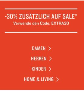 Tom Tailor: 30 % Rabatt auf SALE-Ware