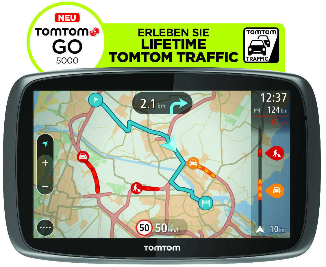 tomtom go 5000 m europa lifetime hd traffic free 3d maps eu refurbished nur 14990e inkl versand statt 22572e