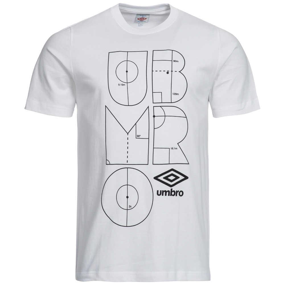 umbro herren markings t shirt 61205u 005 0355 6329993
