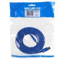 valueline usb 3 0 usb a flachkabel 3 m blau vlcp61105l30 usb a usb b malemale