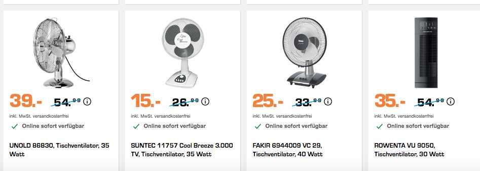 ventilatoren und klimaanlagen reduziert zb suntec 11757 fuer 15e stat 2190e