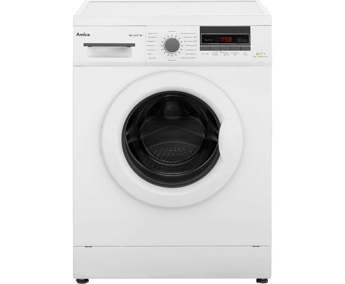 wa14671w wh amica waschmaschine 1 ux l