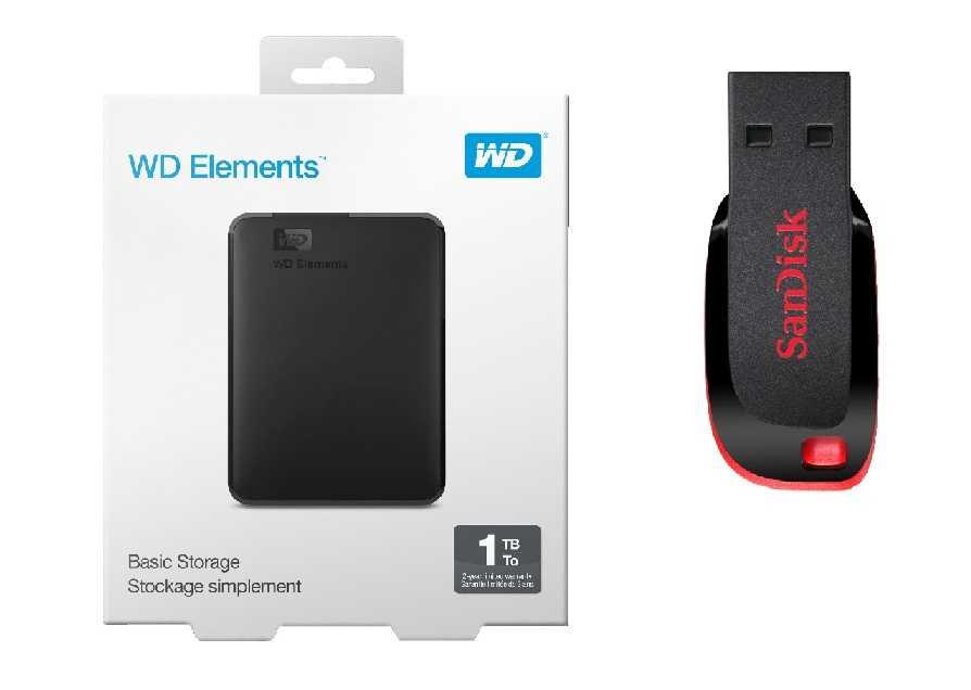 wd 1 tb elements portable sandisk cruzer blade 16 gb fuer zusammen 49 e inkl versand statt 64 e