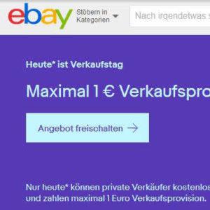 Max 1 Verkaufsprovision Bei Ebay Pro Auktion Fur Bis Zu 100