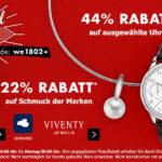 Karstadt: 44% Rabatt auf Uhren & 22% auf Schmuck