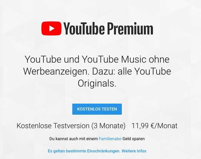 youtube premium 3 monate kostenlos testen 1
