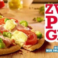 zweite pizza gratis bei dominos bei abholung oder lieferung paypal