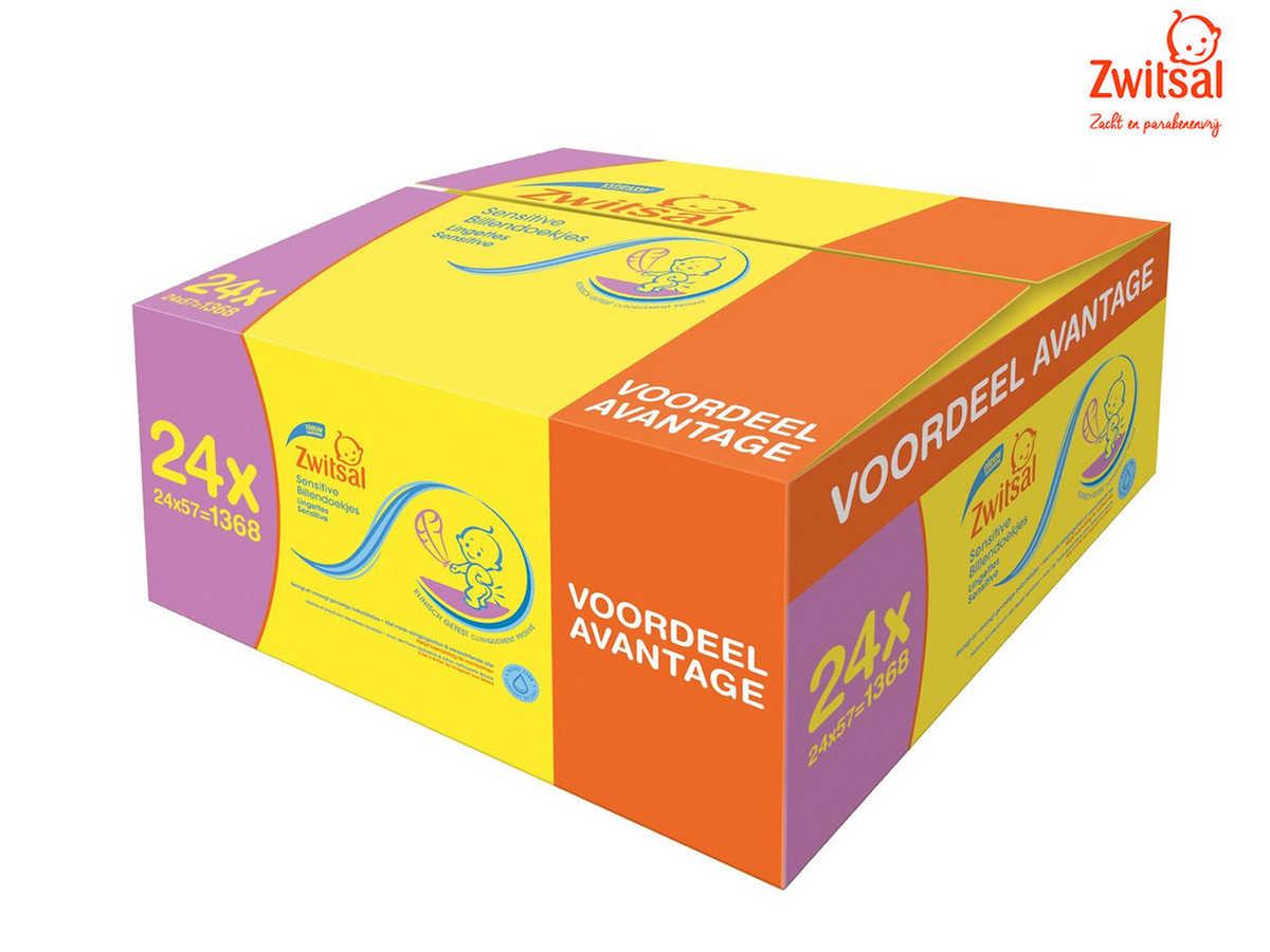 zwitsal sensitive feuchttcher 24x 57 stk